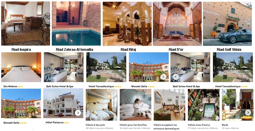 Hotels et Riads